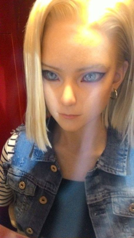 Android N18 | Dragon Ball Z #anime #cosplay.creepy but looks like her