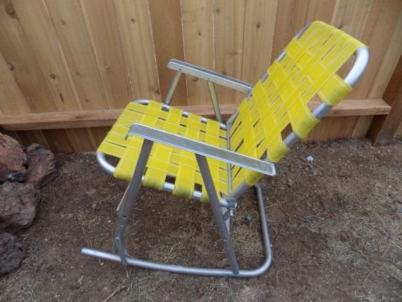 Vintage Rocking Lawn Chair Midcentury Retro by MaggieandNicky