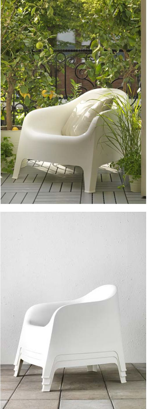 SKARPÖ Armchair, Outdoor, White