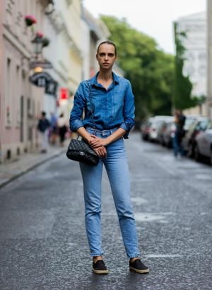 Fall Fashion Street Style - Fresh Ways to Wear Double Denim: Style a Double…