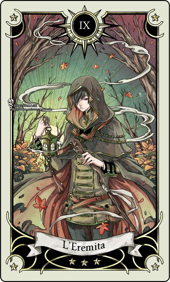 Tarot card 9- the Hermit by rann-poisoncage on deviantART