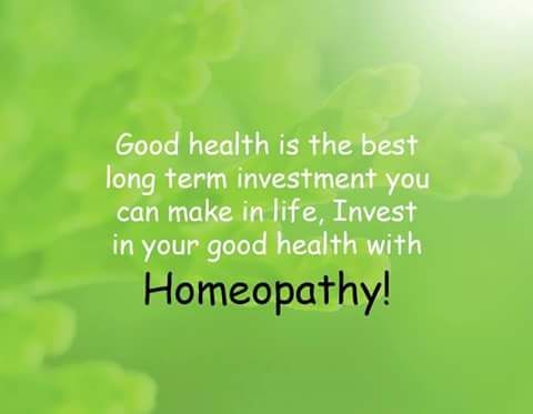 Invest in your good health with Homeopathy