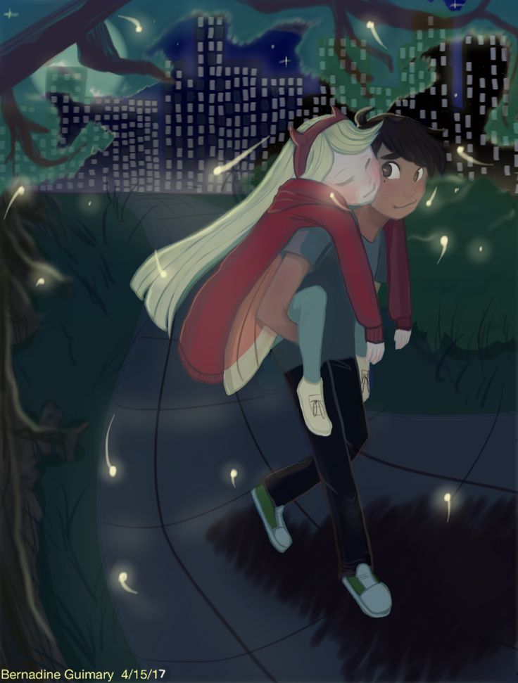 Starco: Moon Lit Night in the City Park by Otakuofeverything.deviantart.com on @DeviantArt