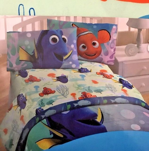 Finding Dory Twin Bedding Set 4 Pieces Microfiber Comforter Sheets Pillowcase | eBay