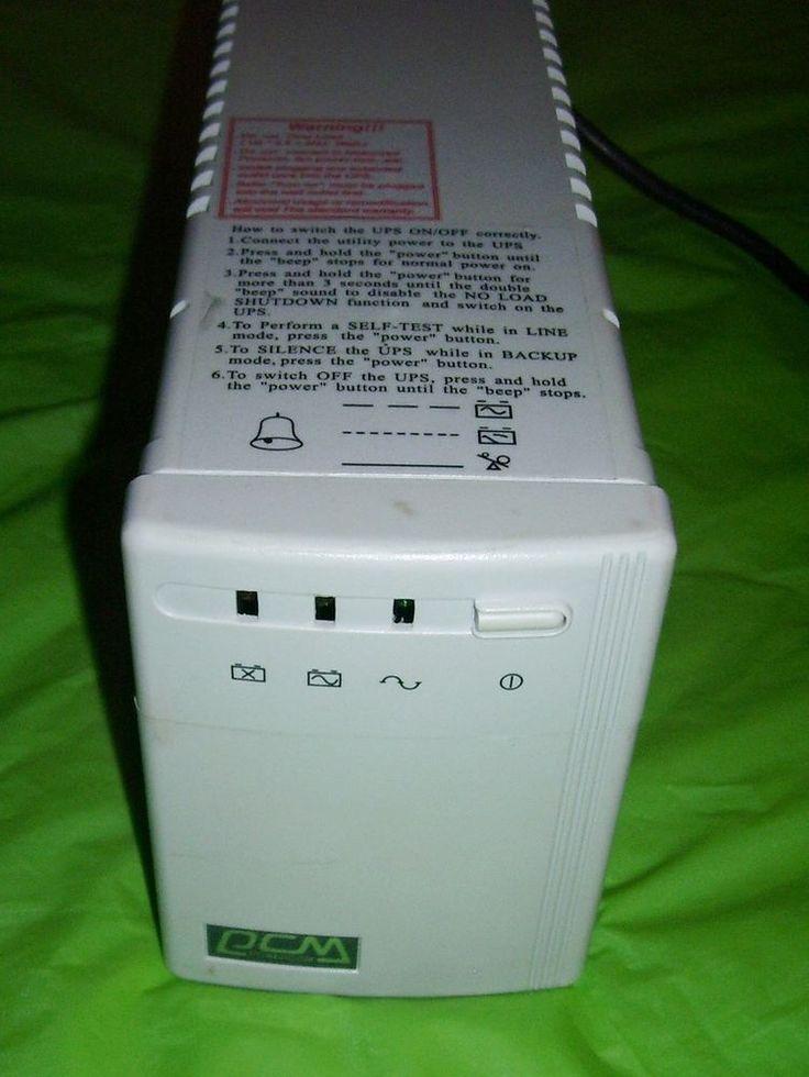 UPS Uninterruptible Power Supply- Powercom King CS Series KIN-425CS, 425VA/255W #APCPOWERCOM