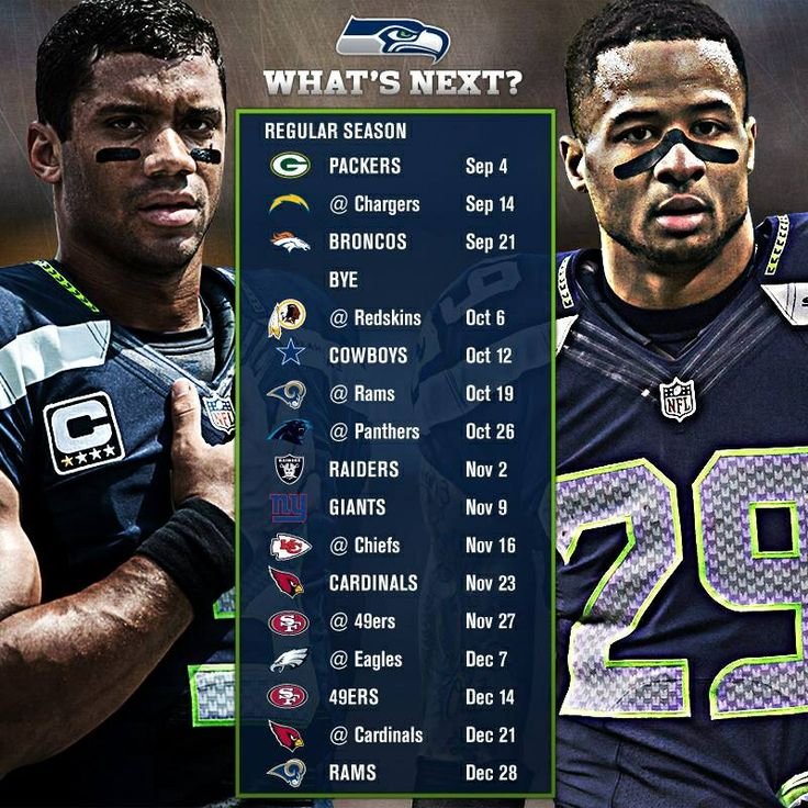 Seahawks Schedule for 2014-2015. I am so ready for some football!! And another Super Bowl win!!