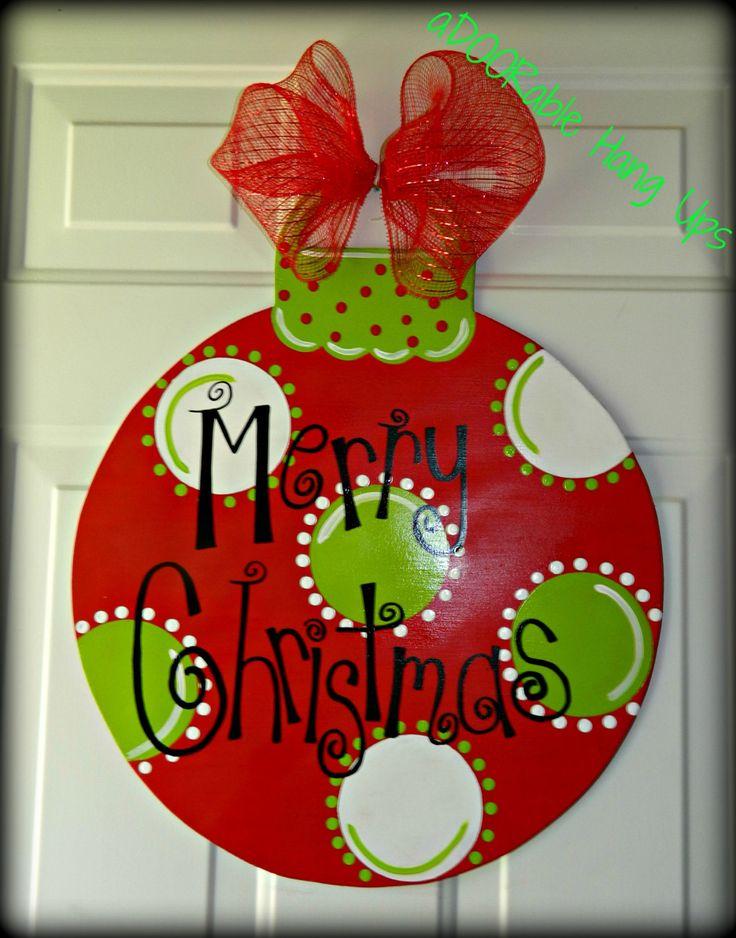 Christmas Ornament Door Hanger by aDOORableHangUps on Etsy