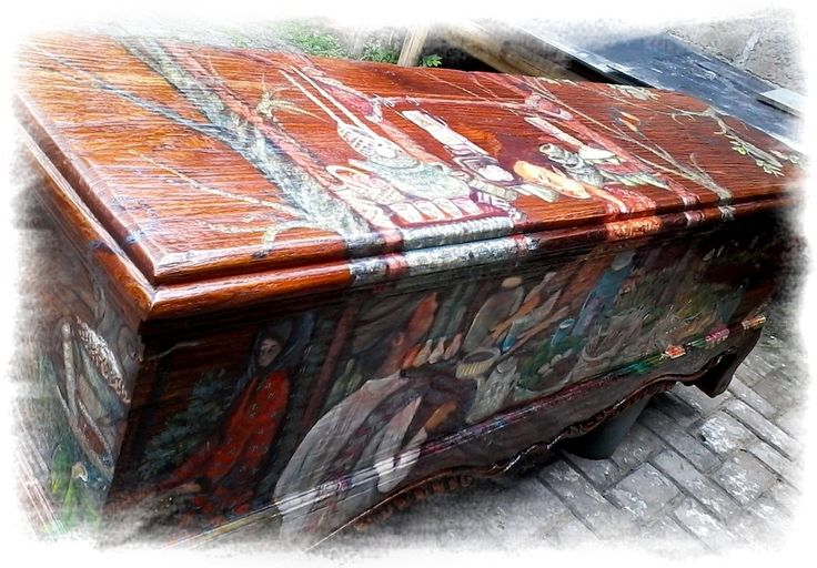 Yucca Rose-Painted Woodchest