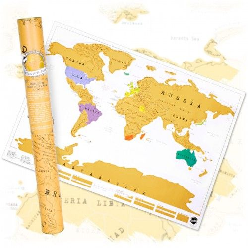 My Travel Scratch Map - Large | Yellow Octopus #gifts #gadgets #toys