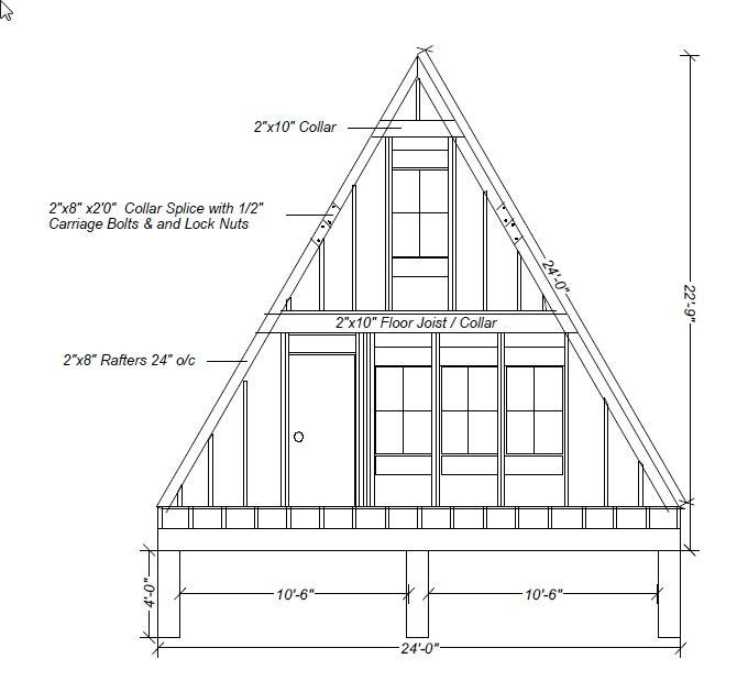 Our A Frame Cabin A Frame Elevations And Sketches House
