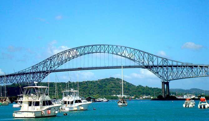 Bridge of the Americas The Bridge of the Americas (Spanish: Puente de las Américas; originally known as the Thatcher Ferry Bridge) is a road bridge in Panama, which spans the Pacific entrance... #Attraction #Landmark  #Backpackers #Hostelman #Travel #Landmark