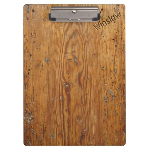 Distressed Wood (Personalized Clipboard)