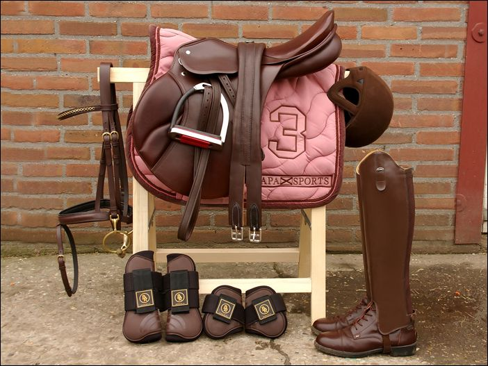Love everything but the pink saddle pad! I would have choose blue instead!!