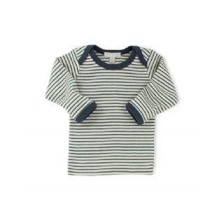 WILSON & FRENCHY NAVY STRIPE EASY NECK LONG SLEEVE TOP - $26.95 - 100% cotton navy stripe long sleeve top with easy neck opening. #sweetcreations #baby #boy #designer #fashion #wilson&frenchy