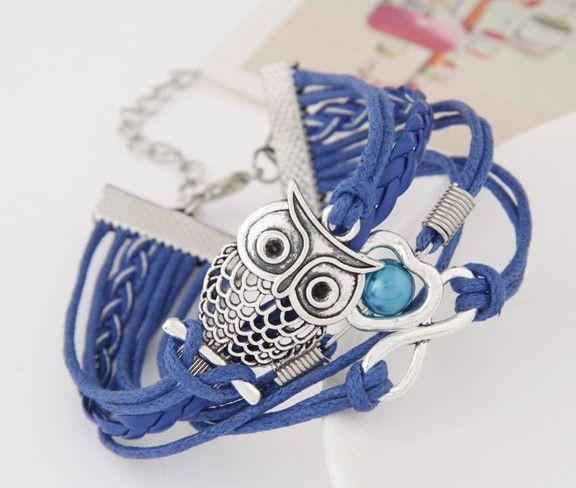 Multi Layer Blue Wrap Bracelet