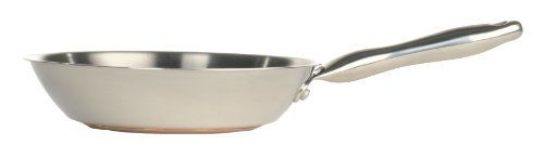 T-fal C8390564 Performance Stainless Steel Copper Bottom 10.5-Inch Fry / Saute Pan, Silver by T-fal. $29.99. Suitable for induction cook tops.. Long lasting stainless steel with a contemporary design will look like new even after many years of cooking.. Interior measuring marks deliver added convenience and ease of use.. Riveted stainless steel handles are ergonomically designed.  Oven safe up to 500 degrees F.. Multi-layer stainless steel base encapulates a t...