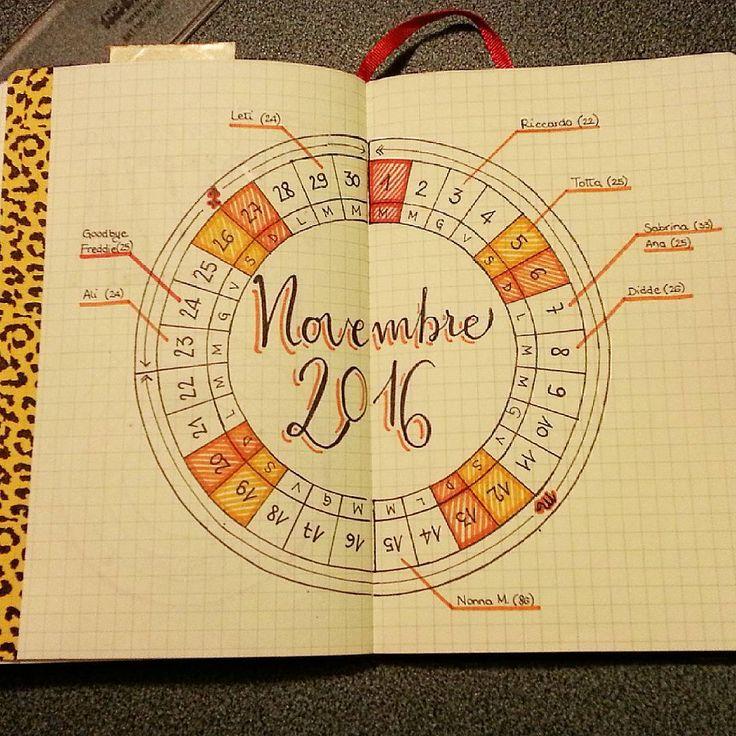 Calendar wheel: November 🙌 😍 #calendarwheel # ...