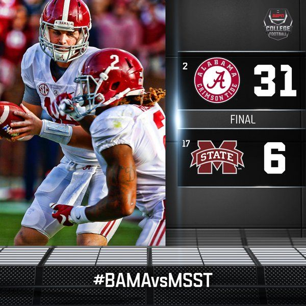 alabama football seasons football scores espn