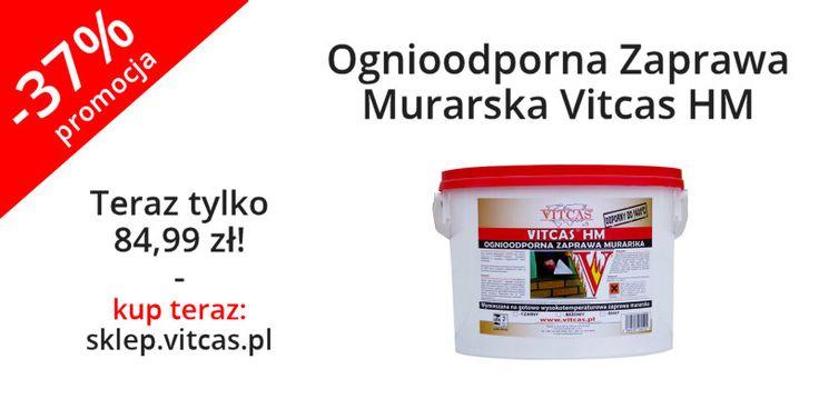 Ognioodporna zaprawa murarska teraz 37% taniej. Zapraszamy do zakupów: http://sklep.vitcas.pl/pl/p/Ognioodporna-Zaprawa-Murarska-Vitcas-HM/9