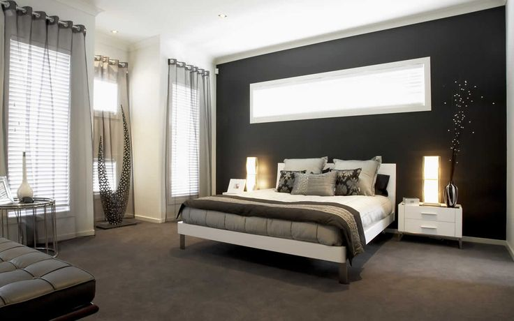 inspirational idea for my bedroom <3 black and white