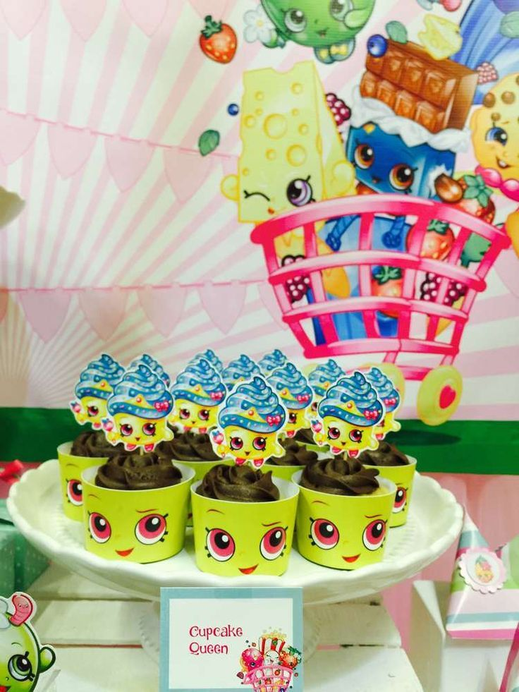 The cupcakes at this Shopkins Birthday Party are adorable!! See more party ideas and share yours at CatchMyParty.com