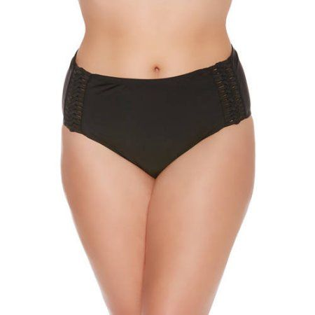 Catalina Womens High Waist Bikini Swim Bottom Swimsuit Bikini Bottoms
