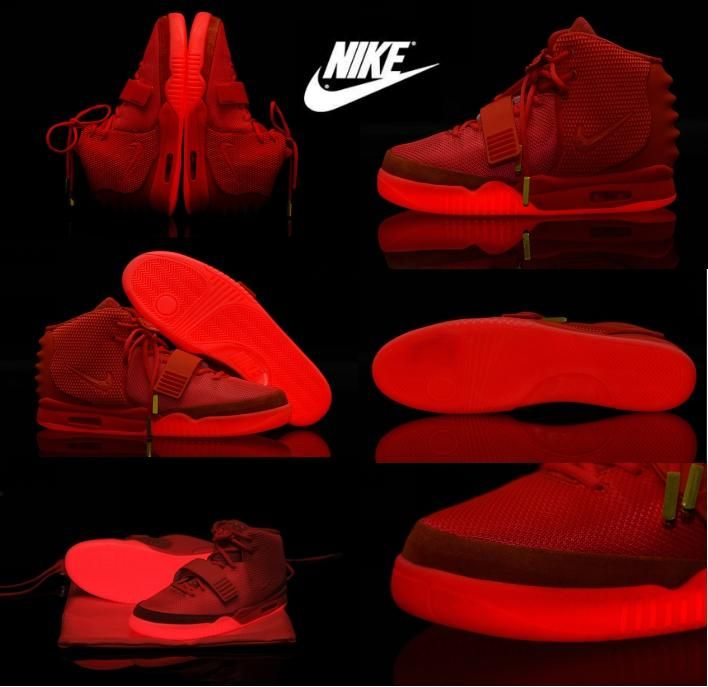 Wholesale cheap nike air yeezy 2 online, pvc   - Find best  nike mens and women air yeezy 2 red october basketball shoes west trendy unisex's sports shoes glow in dark shoes size: us5.5-us13 at discount prices from Chinese athletic & outdoor shoes supplier - discounts_shop on DHgate.com.