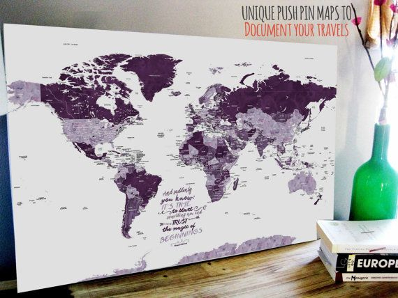 18 best world map images on pinterest world maps canvas prints push pin canvas map foam backed cotton canvas cotton gift world map guestbook gumiabroncs Choice Image