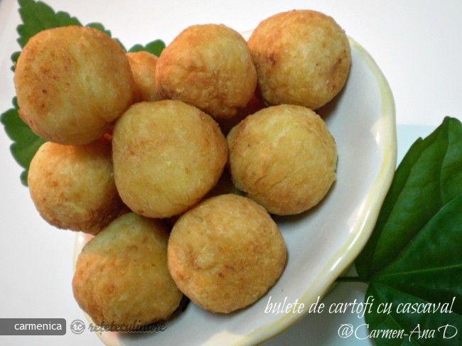 Reteta culinara Bulete de Cartofi cu Cascaval din Carte de bucate, Aperitive. Specific Romania. Cum sa faci Bulete de Cartofi cu Cascaval