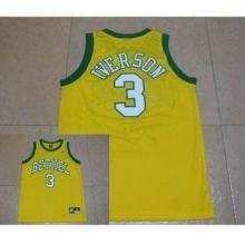 cfde949d361 Mens Bethel High School  3 Allen Iverson Yellow Stitched NBA Jersey ...