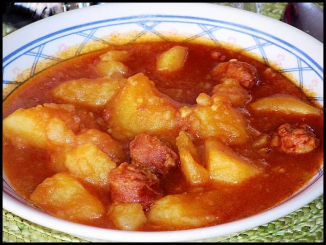 Patatas a la riojana, receta casera