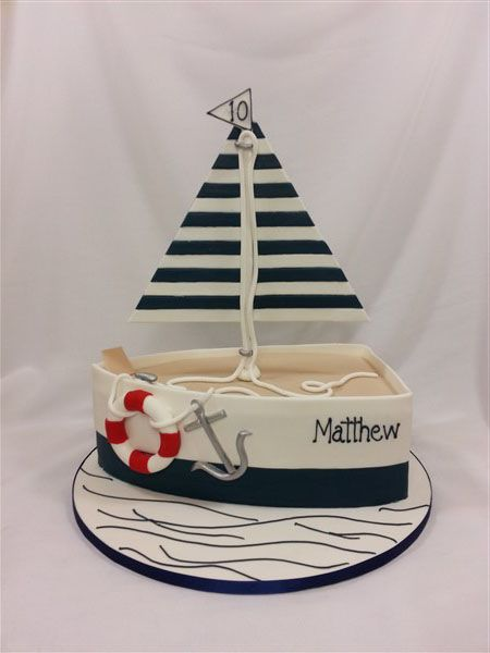 sailing boat cake, simple version