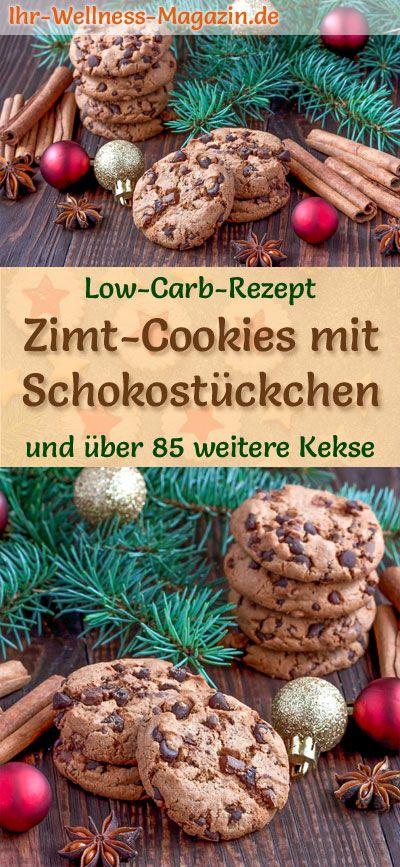 Low Carb Zimt-Kekse mit Schokostückchen – einfaches Plätzchen-Rezept für Weihnachtskekse