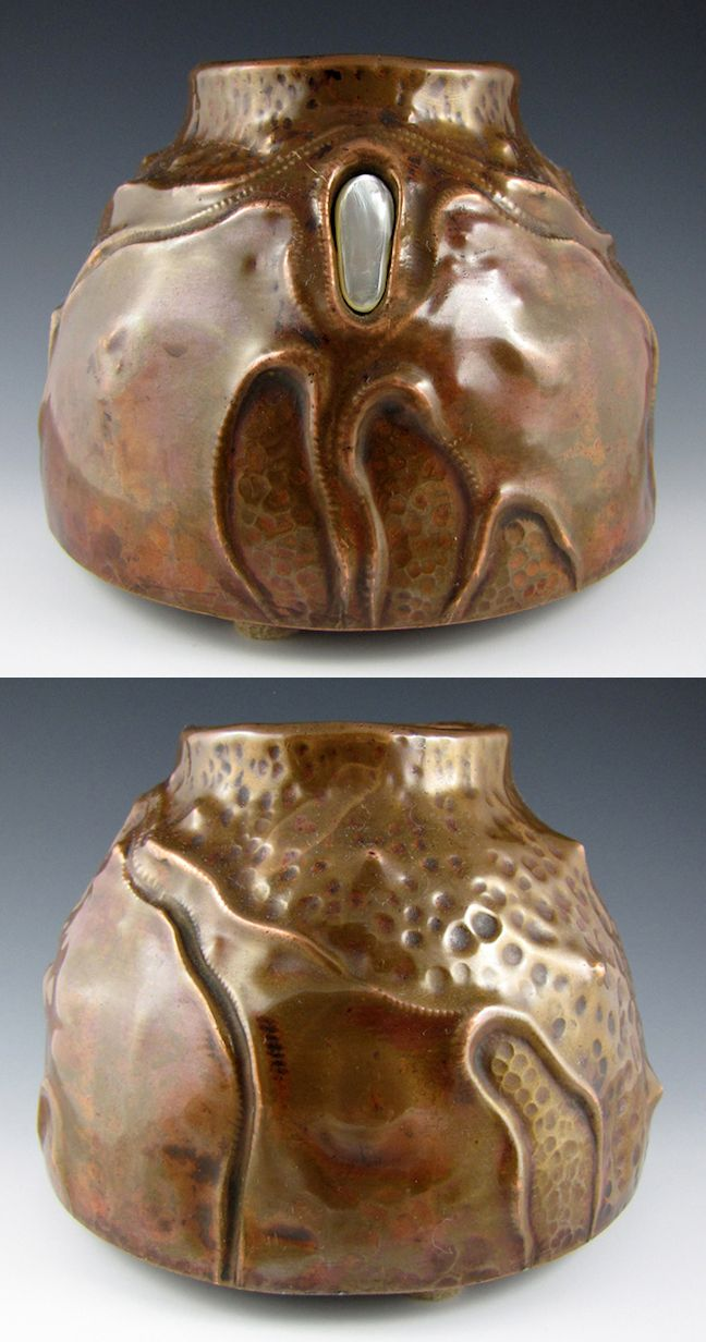 44 best ludwig vierthaler images on pinterest art nouveau ludwig vierthaler hand crafted copper vase with mother of pearl cabochon made by ludwig reviewsmspy
