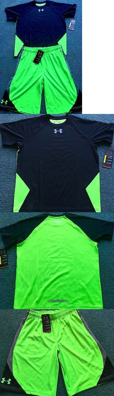 Outfits and Sets 156790: Nwt Boys Under Armour L Neon Green Black Gray Reflective Logo Shorts Set Ylg -> BUY IT NOW ONLY: $54.99 on eBay!
