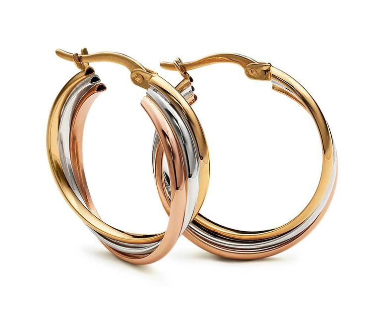 Hoop Earrings in 14k Tri-Color Gold #BlueNile #MothersDay #Jewelry