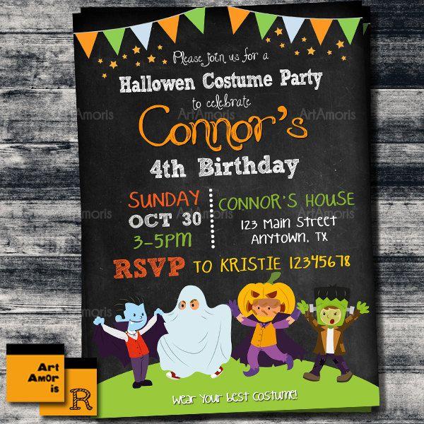 halloween invitation kids halloween party costume party invite printable party invitation halloween
