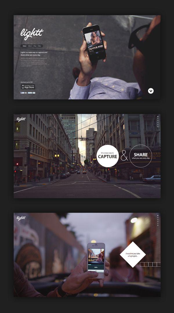 Lightt iPhone App by Dann Petty, via Behance