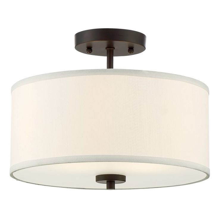 Salmons 2 light semi flush mount