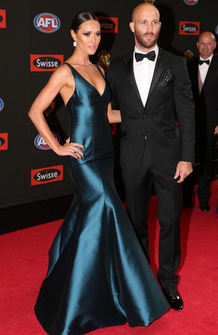Jarrad McVeigh of Sydney and wife Clementine McVeigh arrive on the red carpet for the 2015 AFL Brownlow Medal presentation held at Crown Casino on Monday, September 28, 2015, in Melbourne, Victoria, Australia. Picture: Tim Carrafa