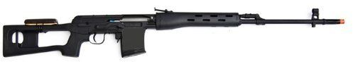 A&K Dragunov SVD Spring Airsoft Sniper Rifle by A&K. $89.88. A&K Airsoft Spring SVD Dragunov Sniper Rifle  A solid metal bodied spring sniper rifle, Russian style. The A&K spring powered Dragunov sports high FPS, durable construction, and accuracy. Please note, the Bolt on most high FPS spring guns can be quite stiff and may be difficult for kids to pull back. Please use under adult supervision, this is not a toy.  Mil Specs:  1:1 Scale Airsoft Spring Rifle Metal Body w/nylon ...