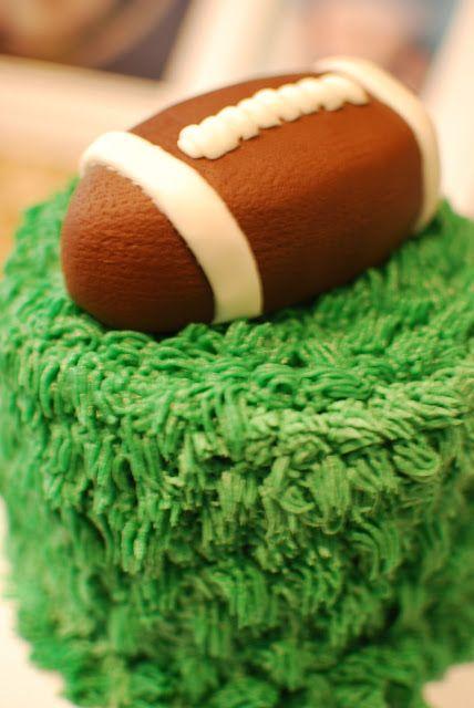 first birthday smash cake, football party