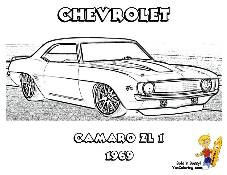 1969 chevrolet camaro zl 1 1 million print out this muscle car coloring_page
