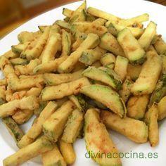 FRITURA DE BERENJENA Y CALABACÍN, un plato sencillo y rápido, perfecto para picotear o compartir. Si sigues los consejos de la receta las verduras siempre te quedarán bien doraditas y crujientes.  TIENES LA RECETA AQUÍ http://www.divinacocina.es/verduras/fritura-de-berenjena-y-calabacin/