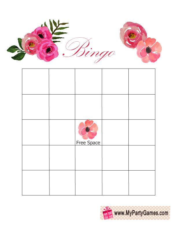 Get these darling and free bridal shower bingo cards! | weddings.