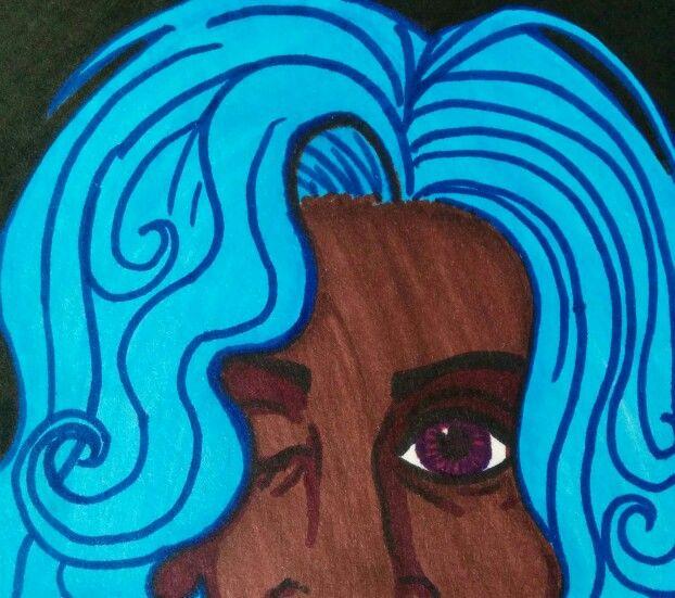 ROYGBIV Series: Blue. Sharpie. Nicole Horel.