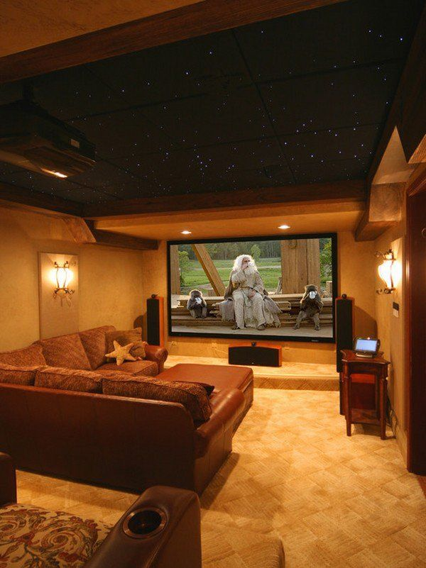 Wonderful Warm Home Cinema Rooms That Will Amaze You