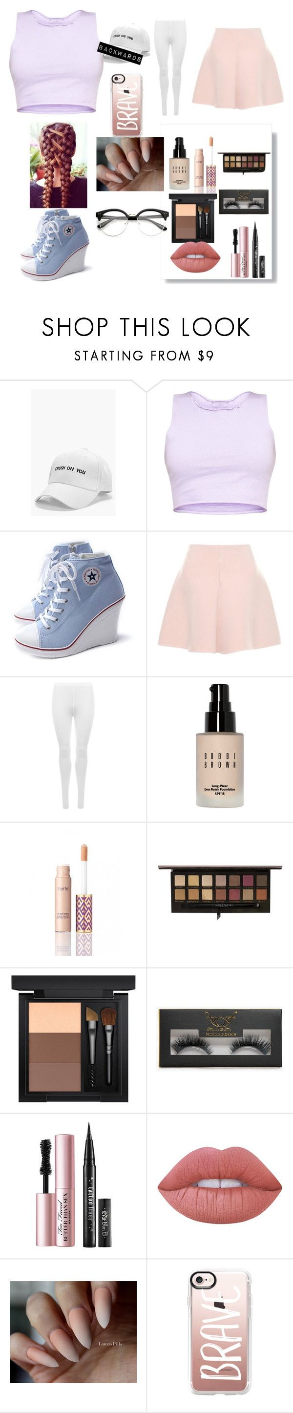 """""""Daddys Girl"""" by kiyakay7 ❤ liked on Polyvore featuring Boohoo, RED Valentino, WearAll, Bobbi Brown Cosmetics, tarte, Anastasia Beverly Hills, MAC Cosmetics, Too Faced Cosmetics, Lime Crime and Casetify"""