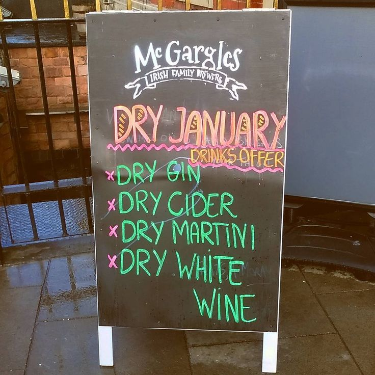 Dry January in Dublin!  #gin #wine #januaryphotochallenge #january #dry #drynewyear #dublin #ireland #feelingthirsty #instadrink #drinks #sign #noticeboard #mcgargles #instaphoto #menu #drinksmenu #cheers #slainte