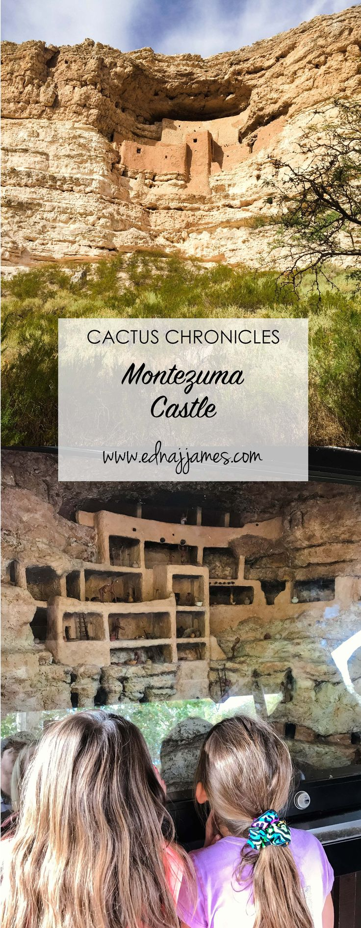 CACTUS CHRONICLES! We Love exploring all over Arizona, and this adventure at Monteuma's Castle was awesome!  www.ednajjames.com